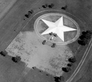 Vue aérienne du monument Marin la Meslee de Dessenheim