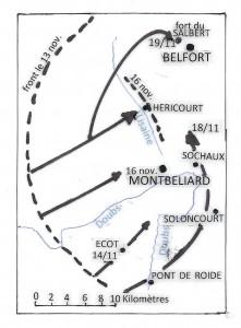 Carte Belfort- Montbeliard