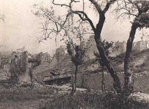 Attaque de chars sur Castelforte