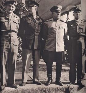 Les chefs des armées victorieuses, Montgomery, Eisenhower, Joukov, de Lattre