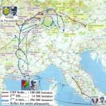 La carte de l'épopée de Rhin et Danube