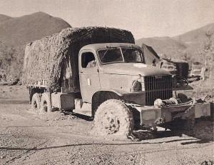 Janvier 1944 : la boue entrave la circulation