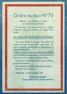 Ordre du jour du Général Leclerc