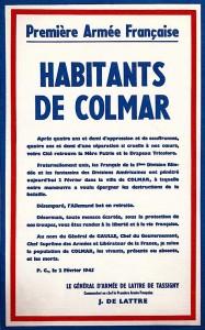 Salut du général de Lattre à la population de Colmar